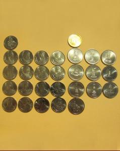 Набор монет к 200 летию 1812 юбилейная монета 2 рубля 2012 года