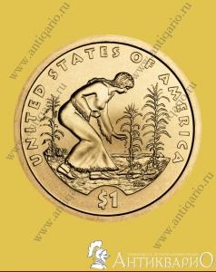 Сакагавея монеты план выпуска монеты красная книга диаметр