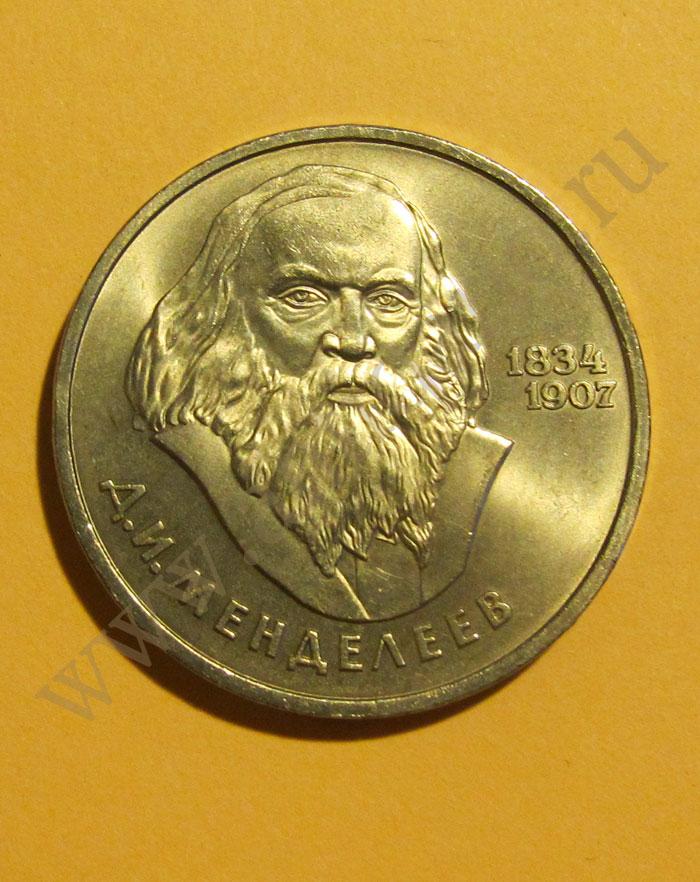 Менделеев монета 50 рублей город
